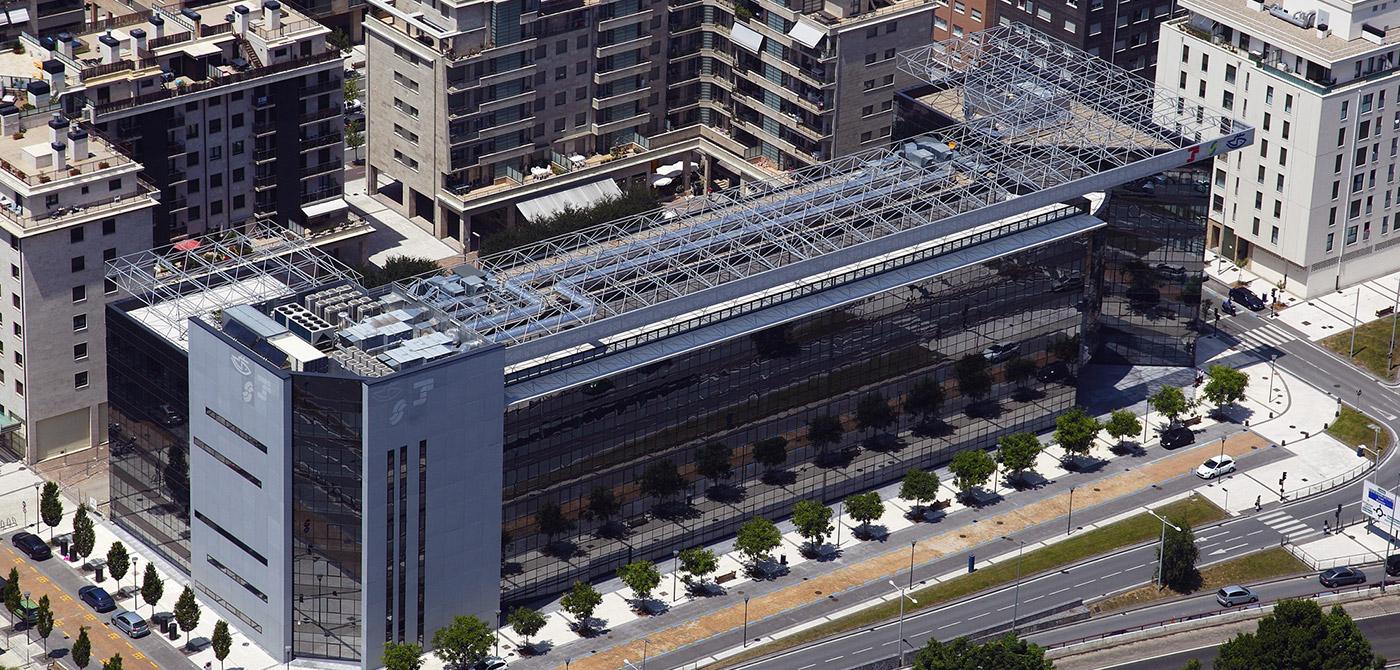 Edificio seguridad social san sebasti n panel omega zeta for Oficina seguridad social barcelona